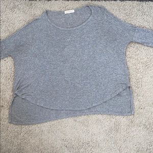 Gray flowy tunic top